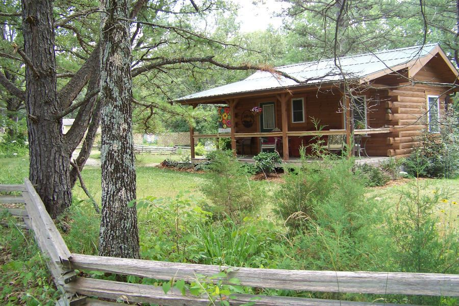 ... Queen Size Log Bed In Jack's Log Cabin (exceptional Cabins Near Meramec  Caverns #2 ...